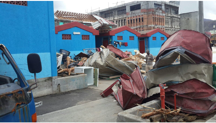Hurricane Maria devastated the Roseau Fisheries Complex in Dominica laHurricane Maria devastated the Roseau Fisheries Complex in Dominica last year Fisheries Division Dominica